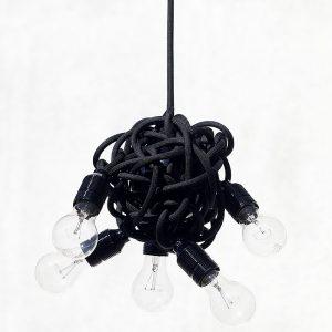 Lampa wisząca do pokoju w kształcie supła